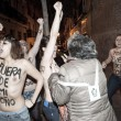 "Femen in topless ""assaltano"" arcivescovo Madrid01"