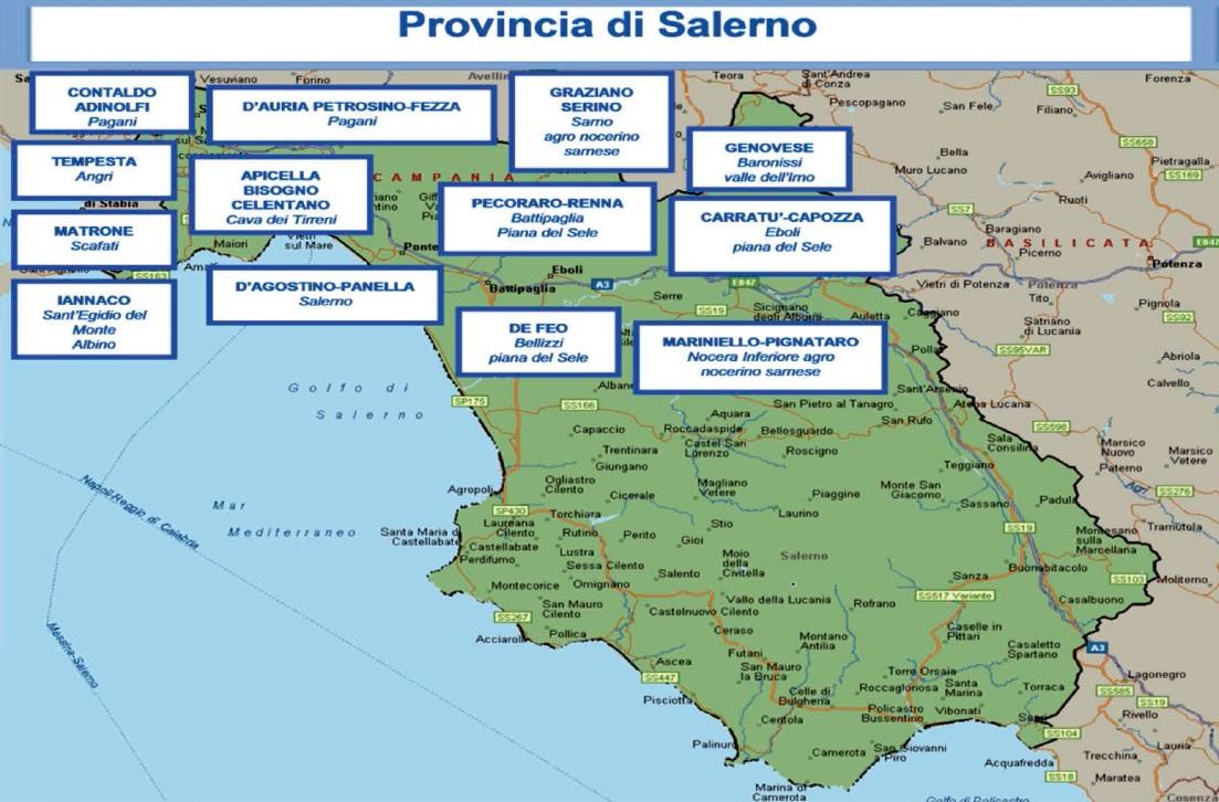 Mappa camorra 06 salerno blitz quotidiano for Arredamenti salerno e provincia