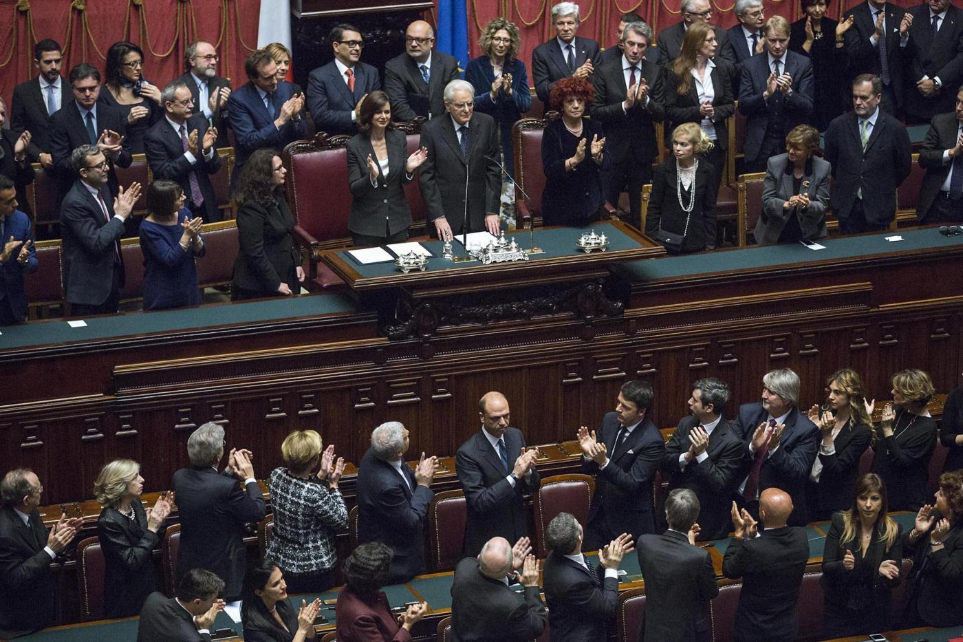Camera dei deputati giuramento del presidente della for Formazione della camera dei deputati