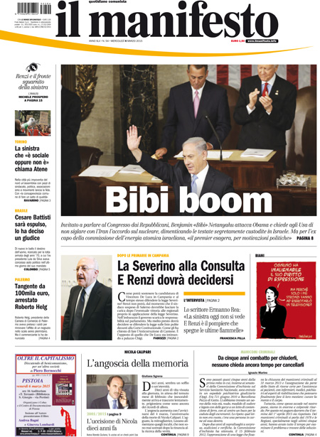 Nazionale 1 manifesto primapagina pag01 04 03 blitz quotidiano - Finestre pensione 2015 ...