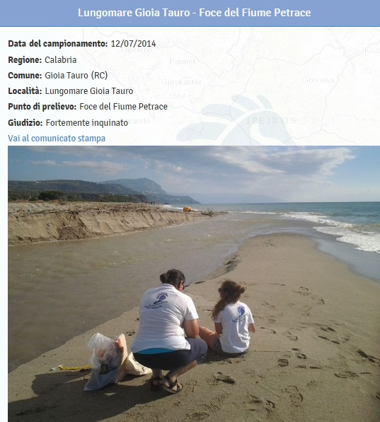 Spiagge calabria le 19 fortemente inquinate dove non fare il bagno 11 blitz quotidiano - Plemmirio dove fare il bagno ...