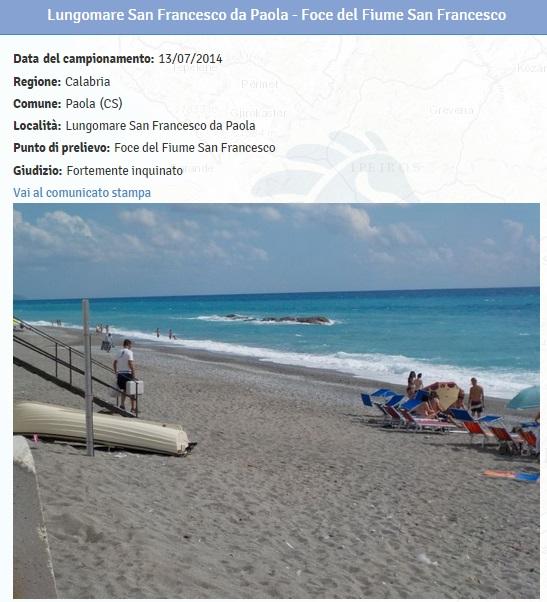 Spiagge calabria le 19 fortemente inquinate dove non fare il bagno 4 blitz quotidiano - Plemmirio dove fare il bagno ...