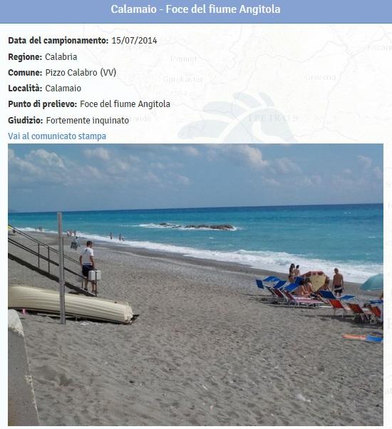 Spiagge calabria le 19 fortemente inquinate dove non fare il bagno 5 blitz quotidiano - Cinque terre dove fare il bagno ...