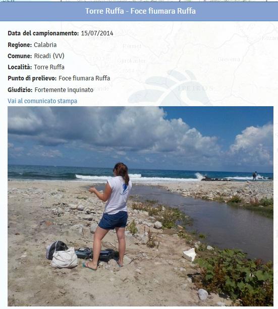 Spiagge calabria le 19 fortemente inquinate dove non fare - Dove fare il bagno a como ...