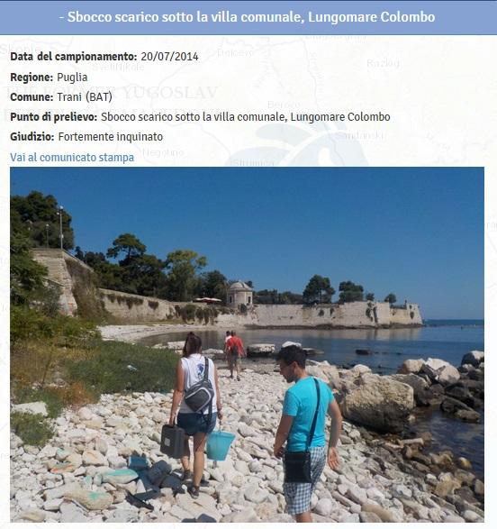 Spiagge puglia le 11 fortemente inquinate dove non fare - Dove fare il bagno a como ...