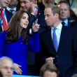 Kate Middleton tifosa di rugby in tribuna con William2