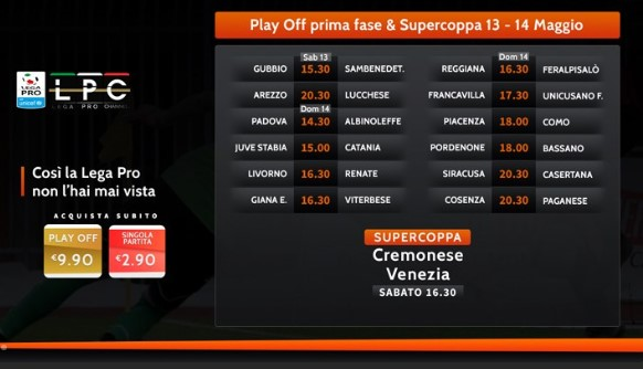 Calendario Play Off.Play Off E Play Out Lega Pro 2017 Calendario E Orario Delle