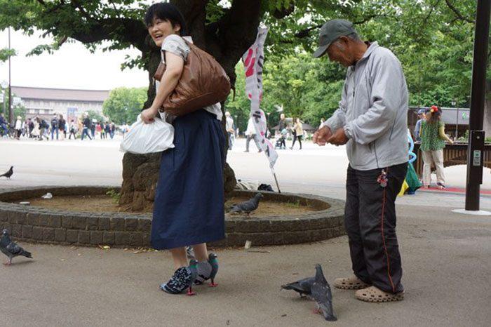 scarpe a forma di piccione l 39 idea della designer