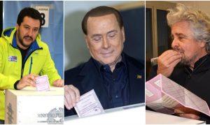 M5S (senza candidato) vota Salvini Berlusconi. E viceversa. Renzi lo picchiano in due