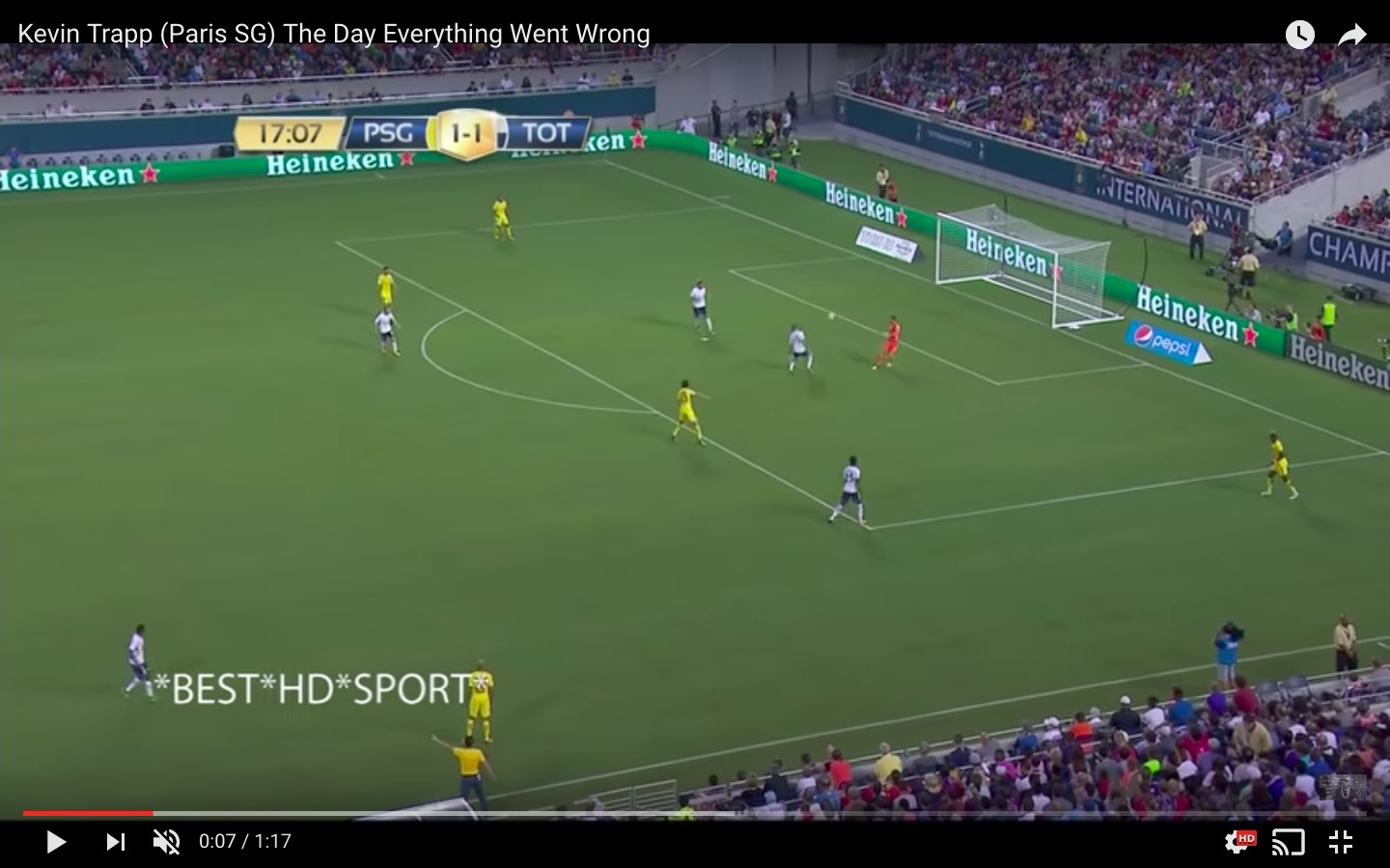 YouTube, Kevin Trapp che papere in Psg-Tottenham 2-4 (International Champions Cup)