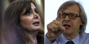 """Vittorio Sgarbi: """"Laura Boldrini mi ricorda Goebbels"""""""