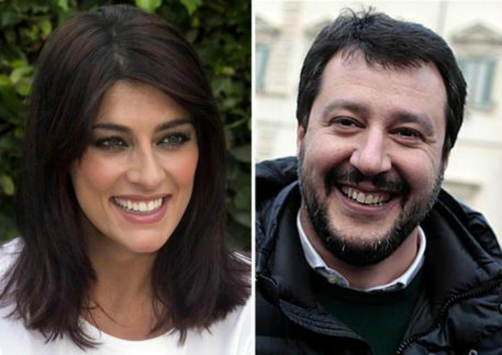 Matteo Salvini e Elisa Isoardi insieme a Cortina mano nella mano