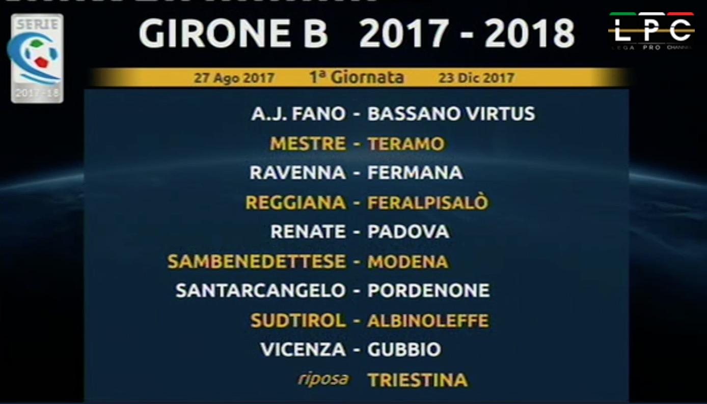 Calendario Serie A 17 18.Calendario Girone B Serie C 2017 18 Blitz Quotidiano