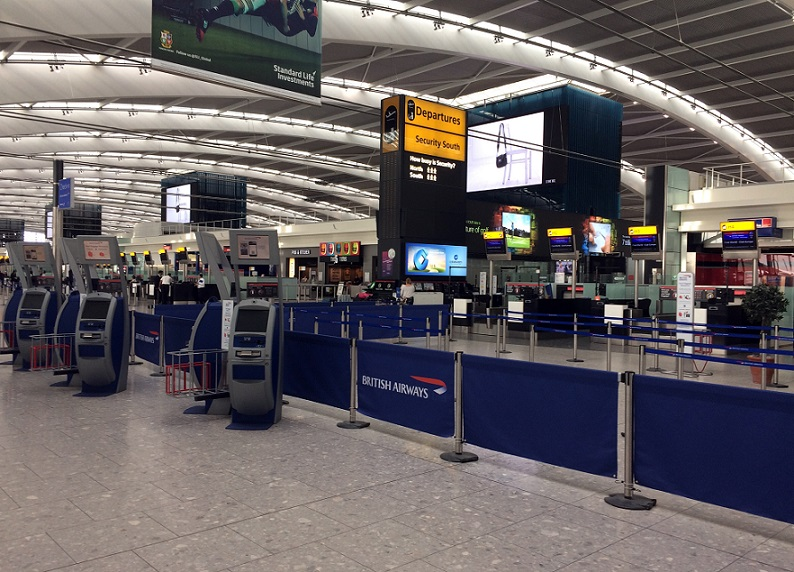 Aeroporto internazionali in tilt: problemi al sistema di check-in