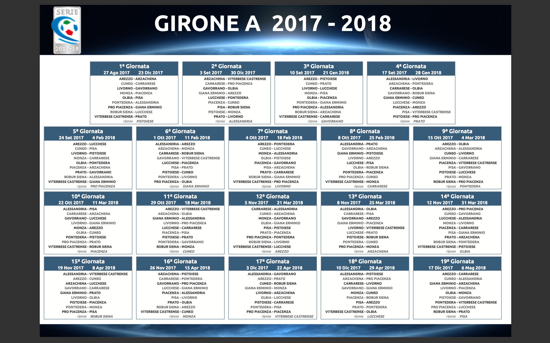 Calendario Monza.Classifica Girone A Serie C I Risultati E Il Calendario 2017 18
