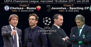 Champions League, Chelsea-Roma e Juve-Sporting