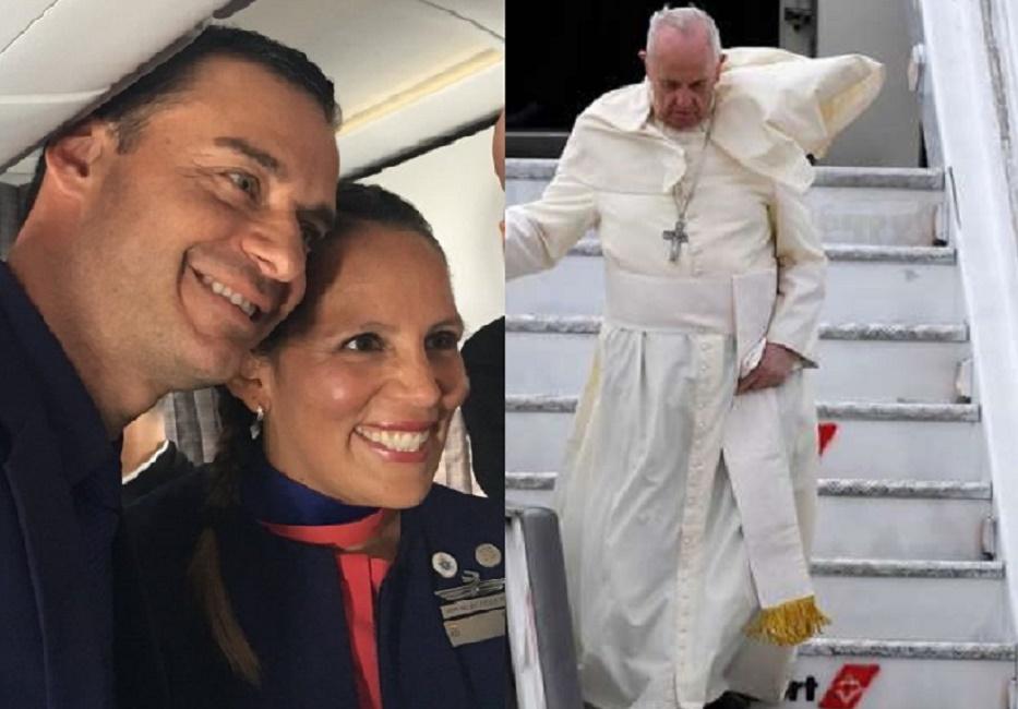 Matrimonio In Alta Quota : Papa francesco nozze ad alta quota sposa una hostess e