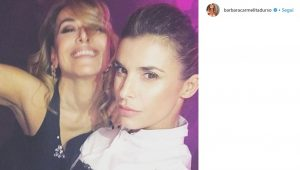 "Barbara D'Urso ed Elisabetta Canalis ballano allo ""Scandal Party"" della Milano Fashion Week"