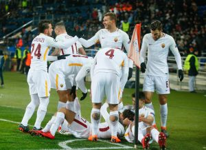 Shakhtar Donetsk-Roma 2-1 highlights, pagelle. Under-Ferreyra-Fred video gol