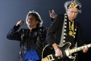 Keith Richards e Mick Jagger in concerto