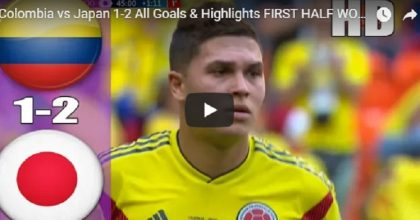 YOUTUBE Colombia-Giappone 1-2 (Kagawa, Quintero e Osaka) VIDEO GOL-HIGHLIGHTS