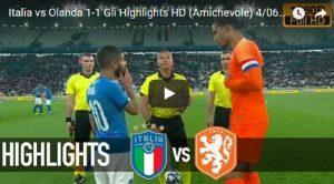 Italia-Olanda 1-1, segnano Zaza e Akè VIDEO GOL-HIGHLIGHTS
