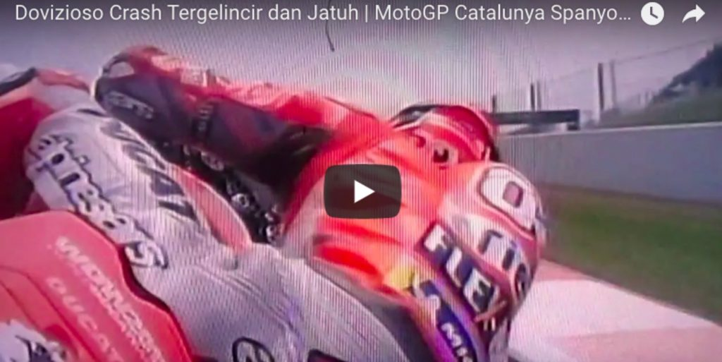 YOUTUBE Andrea Dovizioso, video caduta durante MotoGp Catalogna