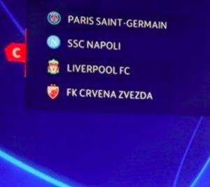 Calendario Napoli Orari.Champions League 2018 2019 Calendario Partite Napoli Orario