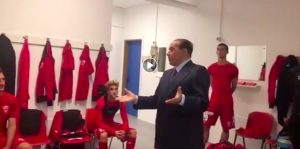 """Silvio Berlusconi, video speech to the players of Monza: """"Who believes in it wins"""". But they tied"""