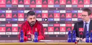 "Gattuso: ""Milan took two blows but it is not dead."
