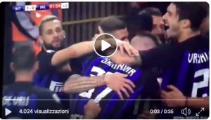 Icardi decides the derby, the butterfly exit of Donnarumma (VIDEO)