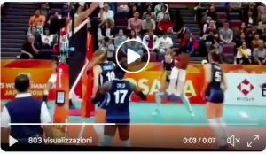 Women's volleyball World Cup, Italy: 3-2 at Japan, is in the semi-finals