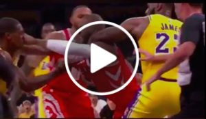 NBA, Lakers-Rockets ends brawl: fist fight between Rondo and Paul