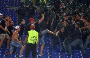 Roma-Cska Moscow, fans clashes: stabbing Russian fan near Olympic stadium