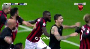 Serie A: Milan vince a Udine al 97' con gol di Romagnoli e aggancia Lazio, Higuain esce infortunato