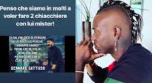"""Mario Balotelli contro Salvini: """"Mister Gattuso, in molti vorremmo fare due """"chiacchiere"""" con lui"""""""
