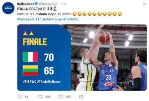Basket, Italia-Lituania 70-65 a Brescia: Mondiali 2019 più vicini