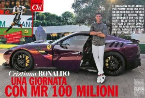 Cristiano Ronaldo earns 274 thousand euros a day, 11,400 an hour, 190 a minute and ... 3 per second