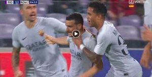 Fiorentina-Roma 1-1 highlights, Florenzi ha risposto a Veretout