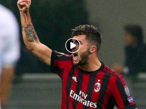 Cutrone esulta dopo il gol in Milan-Dudelange (Ansa)