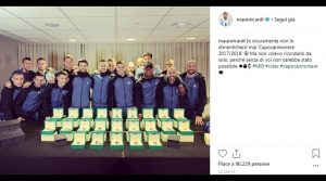 Mauro Icardi gives a Rolex to all teammates for the top scorer 2017/18