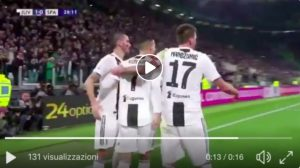 Juventus-Spal   highlights, Cristiano Ronaldo gol su assist di Pjanic