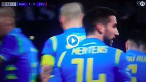Mertens, 100° gol con il Napoli: VIDEO della sua doppietta contro la Stella Rossa
