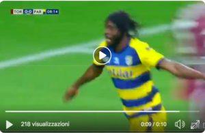 Torino-Parma 1-2 highlights, Gervinho-Inglese VIDEO GOL