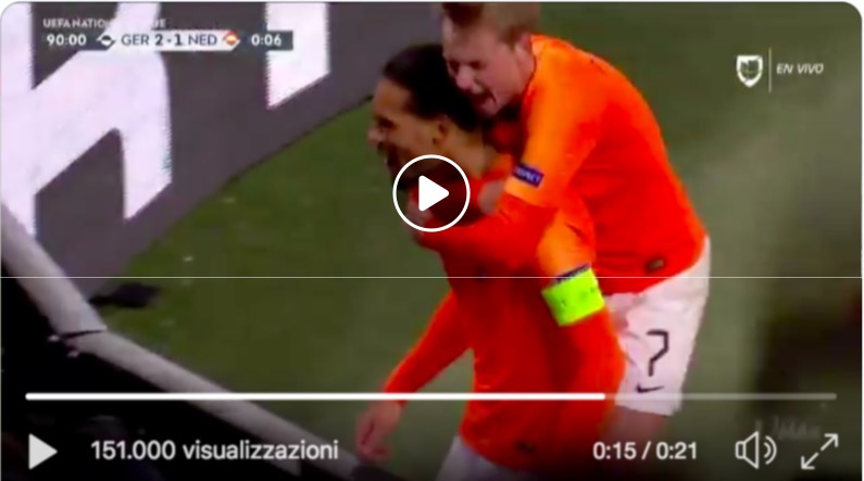90Olanda Video Al Gol Van Dijk Alla Final Pazzesco Germania xothQrCsBd