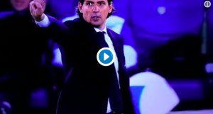 Video, Simone Inzaghi espulso dall'arbitro si rifiuta di uscire dal campo