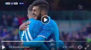 Napoli-Frosinone 1-0 highlights: Zielinski VIDEO GOL