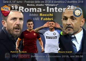 Serie A, Roma-Inter streaming e diretta tv, dove e quando vederla