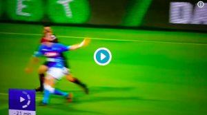 """Cagliari-Napoli, VIDEO: Padoin atterra Fabian Ruiz, niente rigore. Pistocchi: """"Fiction continua"""""""