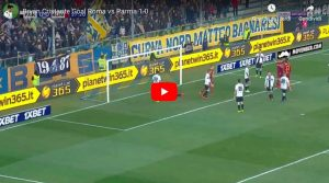 Cristante VIDEO GOL Parma-Roma 0-1, an incomparable header